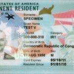 U.S. Green Card Example