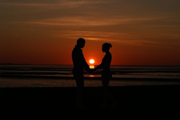 Newlywed Immigrants at Sunset